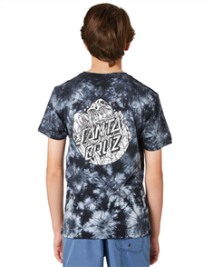 Santa Cruz Conjurer Tie Dye Youth Tee, Black