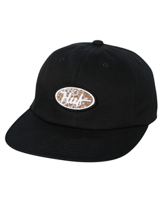 HUF PCH LOGO 6 PANEL HAT, BLACK