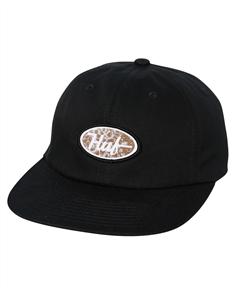 HUF PCH LOGO 6 PANEL HAT, BLACK