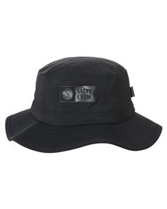 Salty Crew Indicator Tech Boonie  Bucket Hat, Black