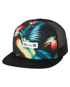 Hurley PRINTED SQUARE TRUCK BOYS HAT, Black/ Multi