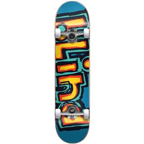 Blind Matte OG Logo First Push Complete Skateboard, Bright Red/ Teal