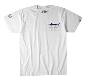 Salty Crew Blue Rogers Short Sleeve Tee, White