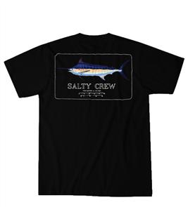 Salty Crew Blue Rogers Short Sleeve Tee, Black