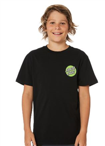 Santa Cruz Bone Slasher Tee - Youth, Black
