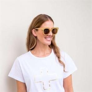 Stella + Gemma Brittany Polarised Sunglasses, Moss