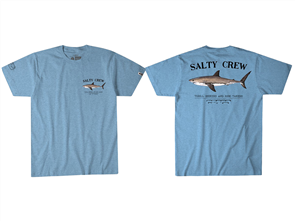 Salty Crew Bruce Short Sleeve Tee, Light Blue Heather