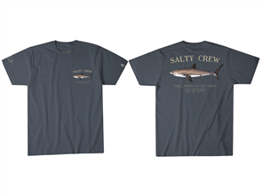 Salty Crew Bruce Short Sleeve Tee, Cool Grey
