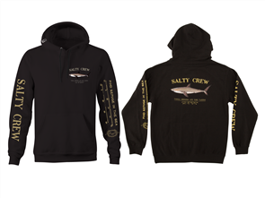Salty Crew Bruce Hood Fleece, Black