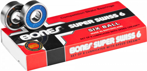 Bones Swiss Model Bearings 6 Ball (8 Pack)