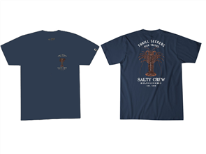 Salty Crew Bugging Out Short Sleeve Tee, Navy