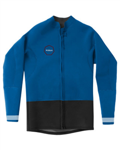 Vissla Boys Front Zip Jacket, Blue