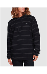 Billabong FLECKER PULLOVER HOODED FLEECE, BLACK