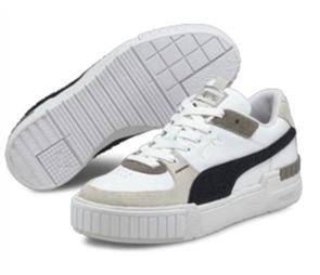 PUMA Cali Sport Varsity Womens Shoe, White Black-Gray Violet