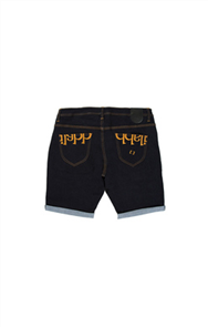 iLabb CAPSIZE STRAIGHT FIT SHORT, NAVY DENIM