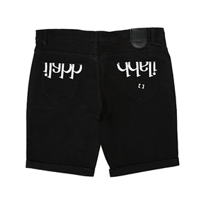 iLabb CAPSIZE STRAIGHT FIT SHORT, BLACK