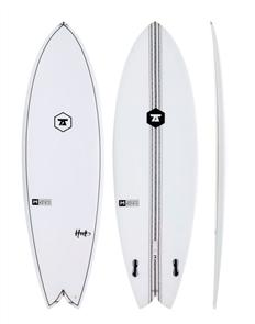 7S The Hook IM Innegra Matrix Twin Fin Surfboard, Clear