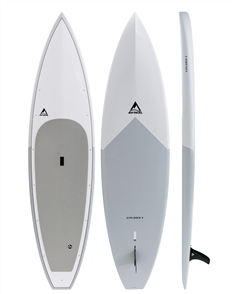 Adventure Paddle Explorer 2 CX Carbon Epoxy Sup, Grey Blue