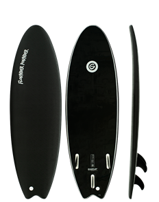 Gnaraloo Flounder Pounder Soft Surfboard, Black LE