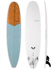 Modern Blackbird XB Epoxy Bamboo Mini Mal Surfboard, Teal