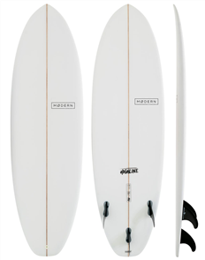 Modern Highline PU Surfboard, Clear