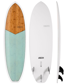 Modern Highline XB Epoxy Bamboo Surfboard, Sea Green