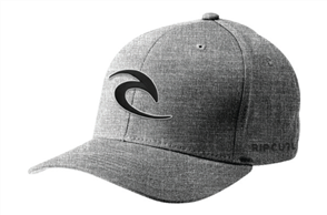 Rip Curl Mens Flexa Curve Peak Cap, Dark Grey