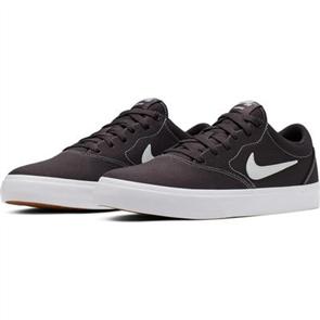 Nike SB Charge Solarsoft Textile Skate Shoe, THUNDER GREY/WHITE-THUNDER GREY