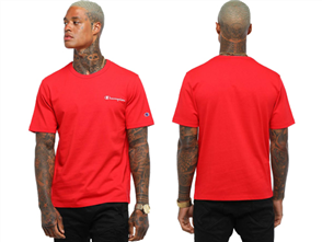 Champion HERITAGE SHORT SLEEVE TEE, TEAM RED SCARLET