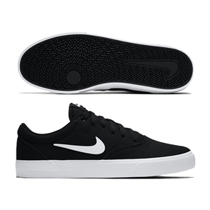 Nike SB CHARGE CANVAS SHOE, Black/White 002