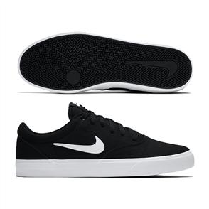Nike SB CHARGE CANVAS YOUTH SHOE, BLACK/WHITE-BLACK