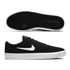Nike SB CHARGE SUEDE SHOE, BLACK/WHITE-BLACK