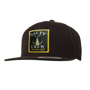 Salty Crew Chasing Tail Patched Hat, Black
