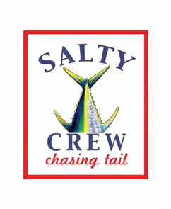 Salty Crew Chasing Tail Sticker, White