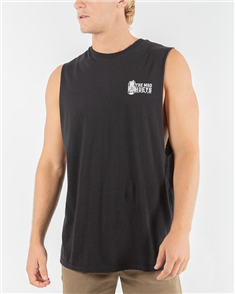 The Mad Hueys CHEERS MUSCLE SINGLET, BLACK