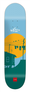 Chocolate Crailtap Sun Series Brenes Deck, Size 8.0