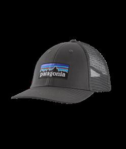 Patagonia P-6 Logo LoPro Trucker Hat, Forge Grey