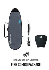 Creatures Of Leisure Fish 3mm Foam Lite Bag, 6'0 Pro Leash, Panel Grip Combo
