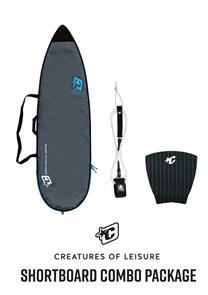 Creatures Of Leisure Shortboard Lite Bag, 6'0 Pro Leash, Panel Grip Combo