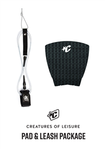 Creatures Of Leisure Pro 6 Board Leash, Panel Grip Combo