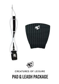 Creatures Of Leisure Pro 6 Board Leash, Panel Grip Combo