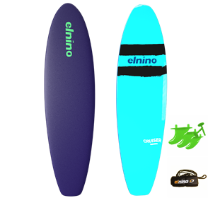 El Nino Cruiser Soft Surfboard, 2017-18, Purple blue, Size 6'6""