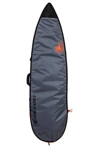 Creatures Of Leisure Shortboard 3mm Foam Lite Bag, Charcoal Orange