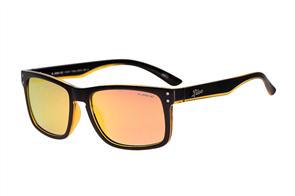 Liive Cheap Thrill- Mirror Sunglasses, Matt Black Orange