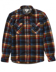 Vissla Eco-Zy LS Polar Flannel Shirt, Black