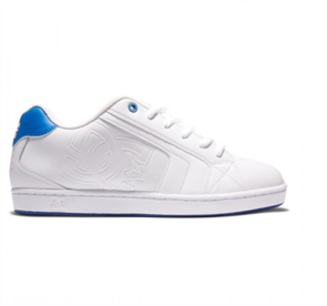 DC NET LE MENS SHOES, WHITE/WHITE/BLUE