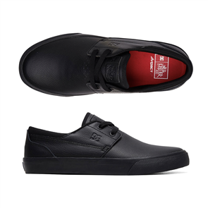 DC Wes Kremer 2, Black Leather School Shoe