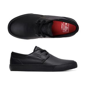 DC Wes Kremer 2, Black Leather School Shoe