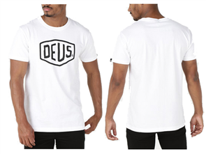 Deus Shield Tee, White