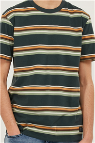 Hurley DF HARVEY STRIPE PAT SHORT SLEEVE TEE, 392 Seaweed